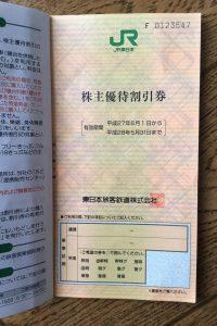 JR東日本株主優待券