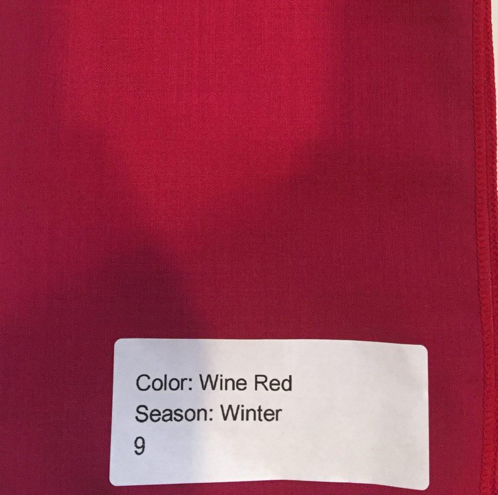 カラー診断 ウインター ワインレッド