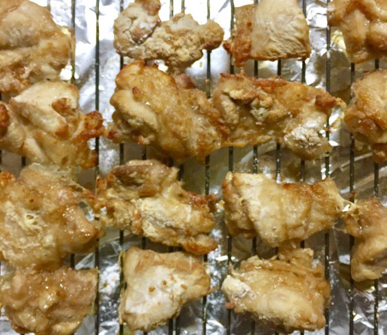 ヘルシオで鶏の唐揚げ
