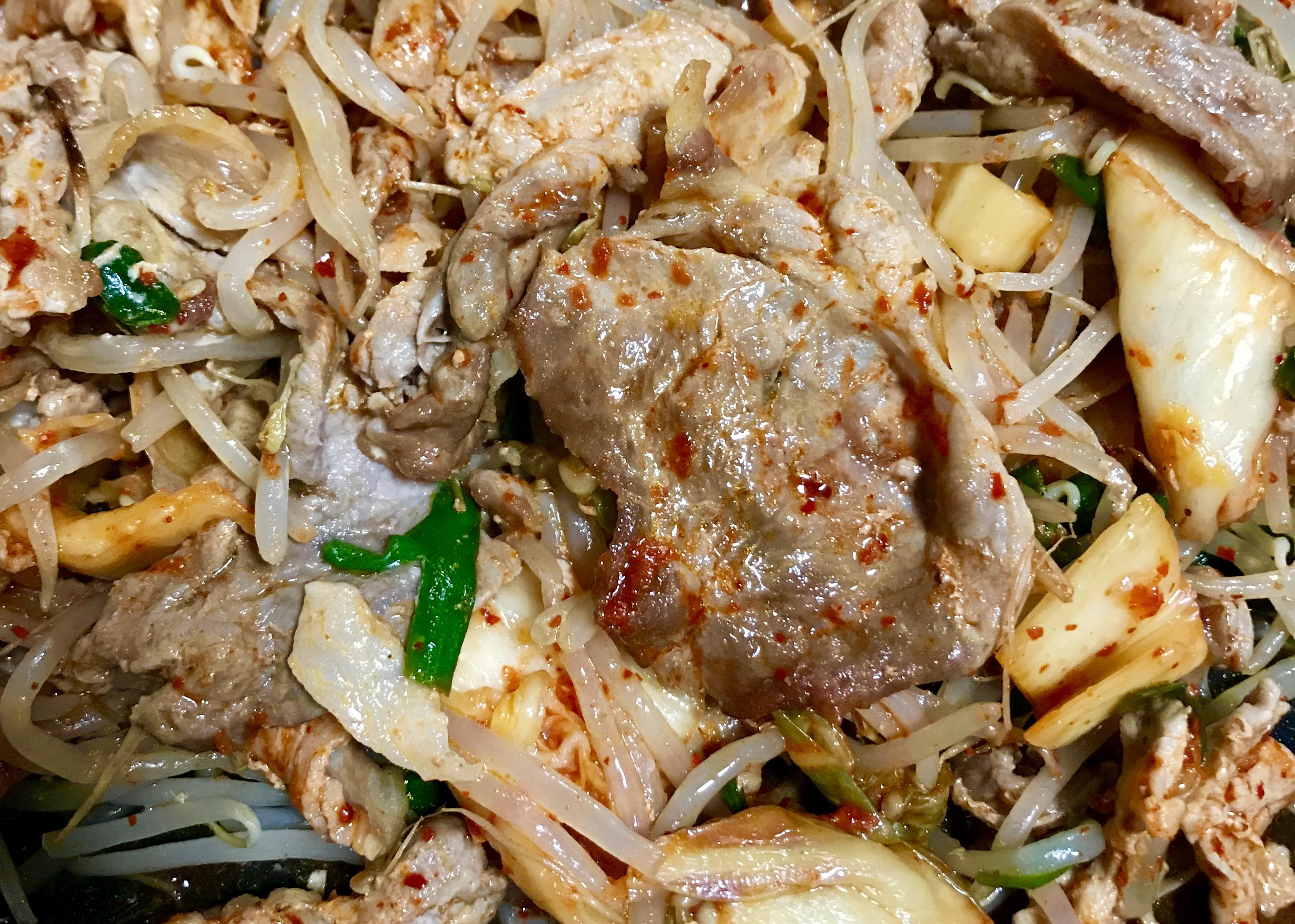 豚肉とキムチの炒めもの ヘルシオ