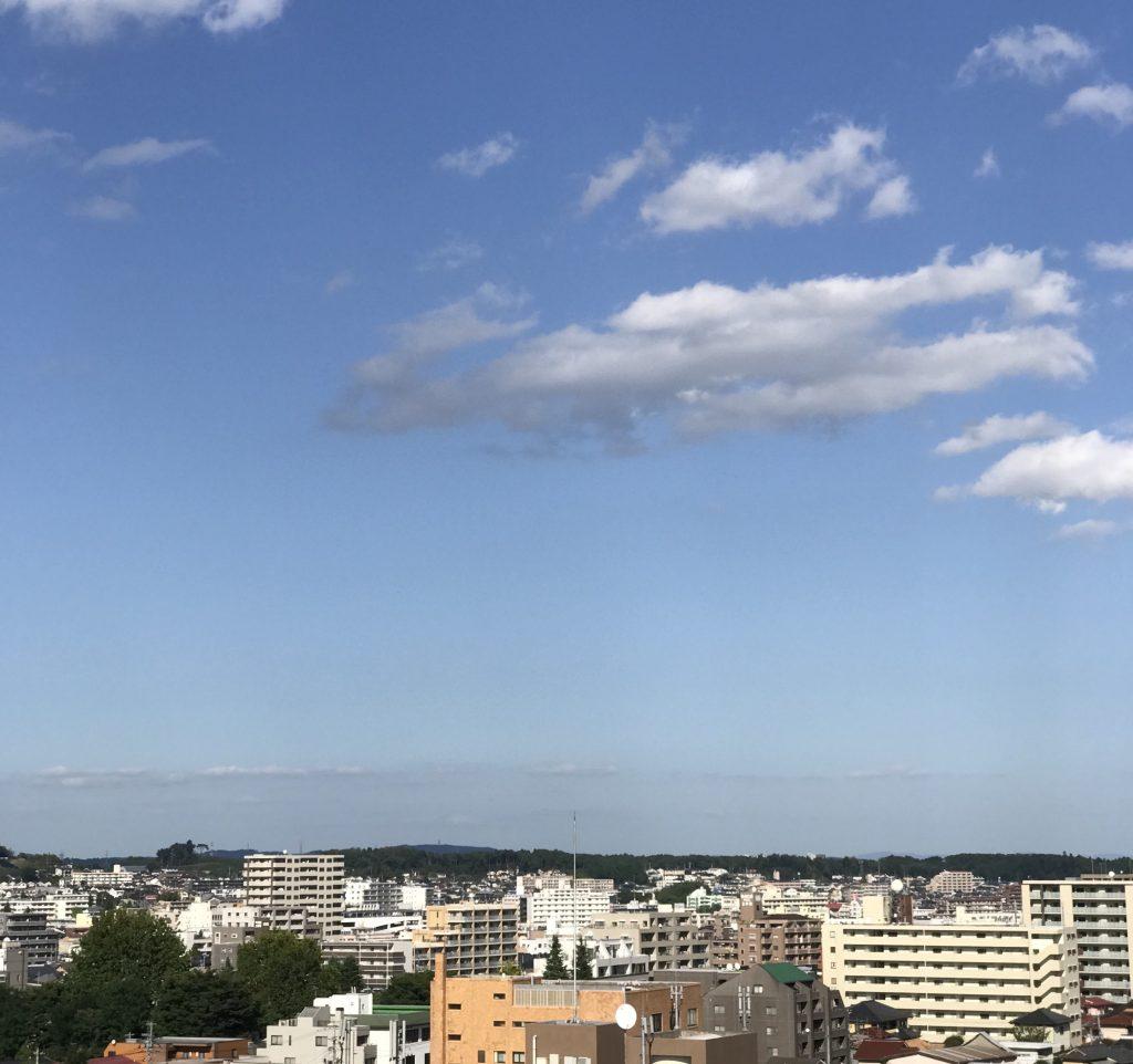 9月の青空