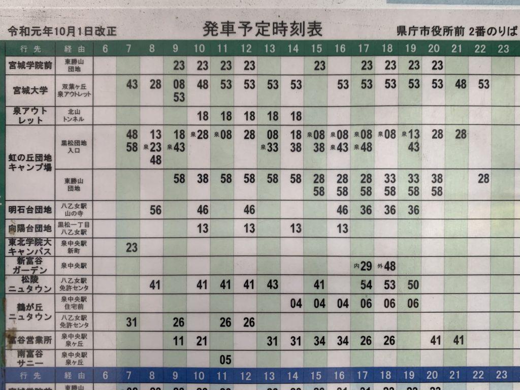 仙台 市 地下鉄 時刻 表