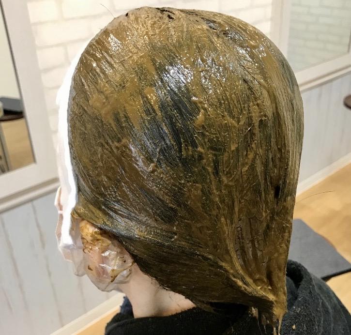 100 %ヘナで白髪染